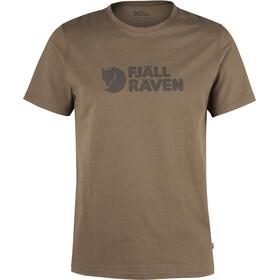 Fjällräven Logo t-shirt Heren bruin